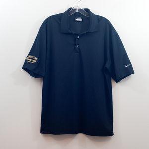 Nike Golf Black Dri Fit Polo EUC